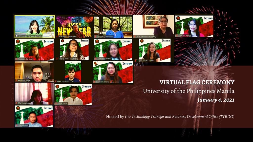 UPM-TTBDO hosts 1st virtual flag ceremony for 2021